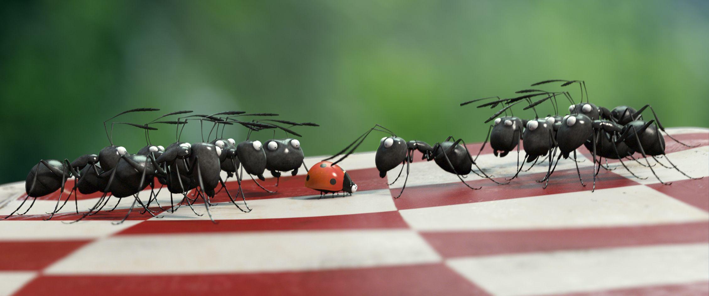Formiche affamate e combattive in una scena di MINUSCULE - La valle delle formiche perdute