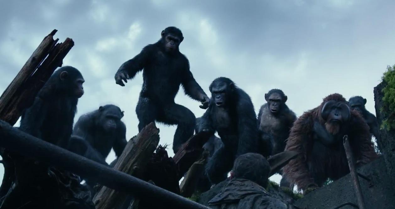Un'immagine tratta dal fantascientifico Apes Revolution - Il pianeta delle scimmie