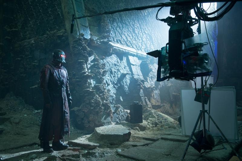Guardiani della galassia: Chris Pratt di fronte alla cinepresa