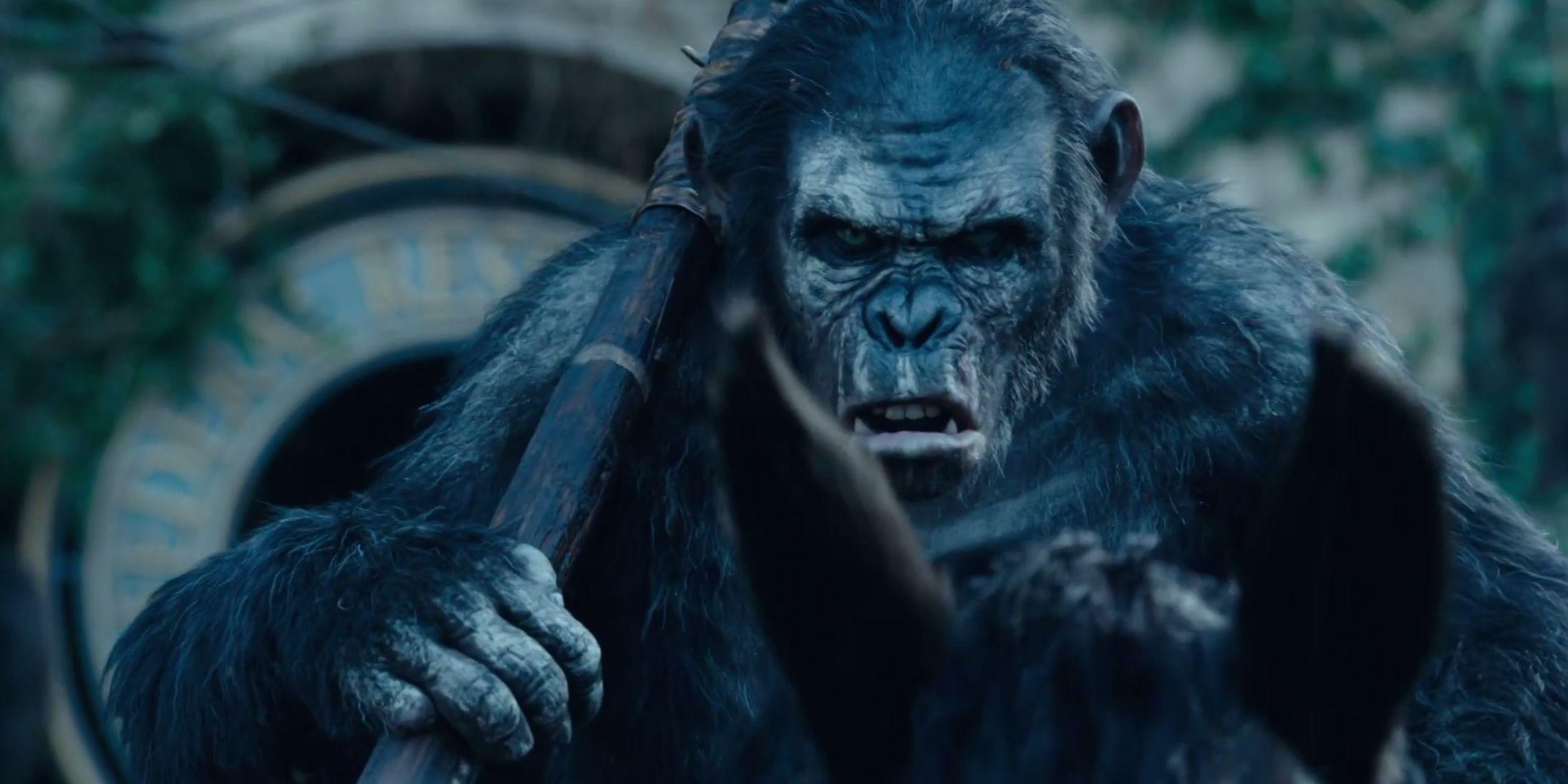 Una scena di Apes Revolution - Il pianeta delle scimmie