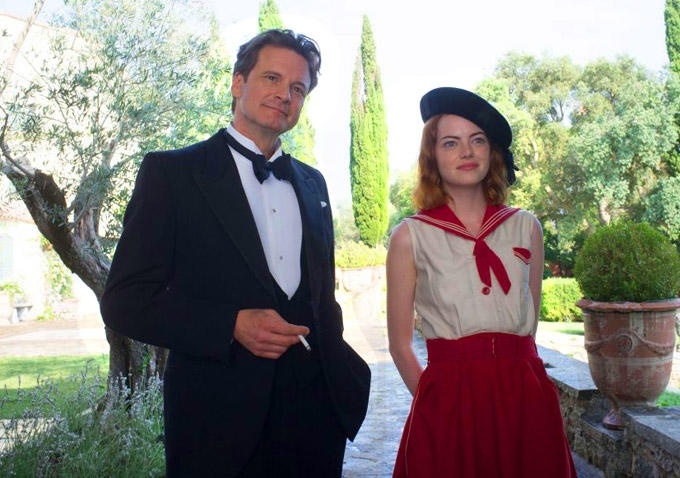 Magic in the Moonlight: Colin Firth ed Emma Stone passeggiano amabilmente nella riviera francese