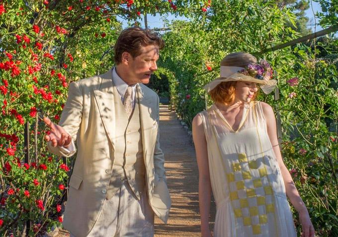 Magic in the Moonlight: Colin Firth ed Emma Stone passeggiano tra i fiori