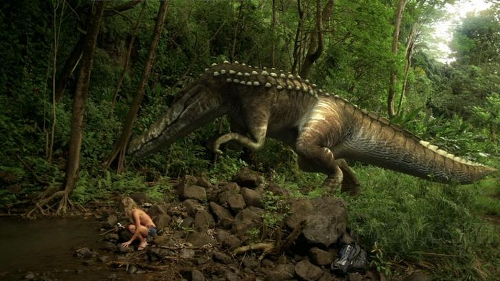Dinocroc vs. Supergator, una scena del film