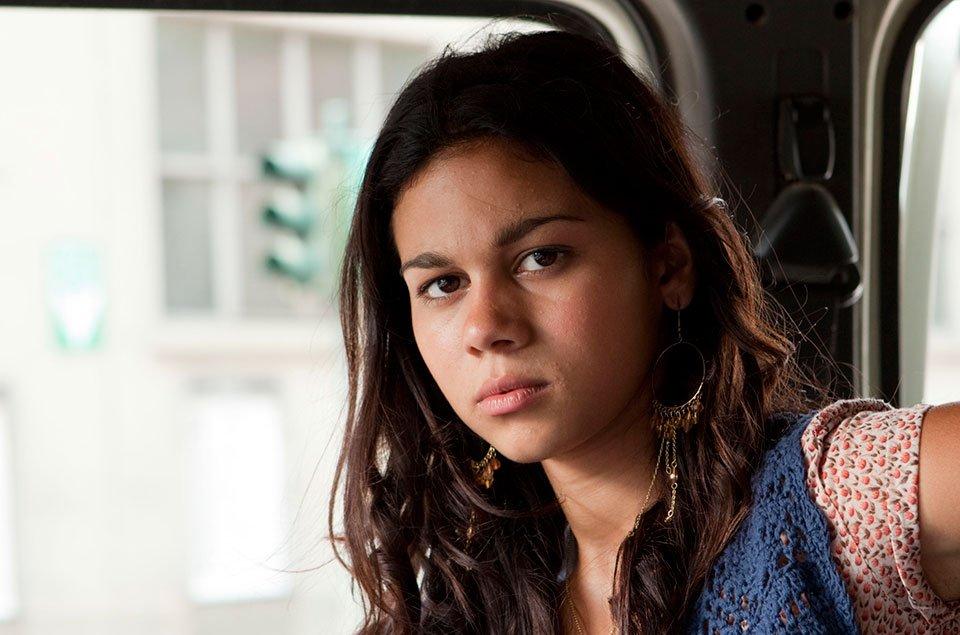 Io rom romantica: la protagonista Claudia Ruza Djordjevic nei panni di Gioia in una scena del film