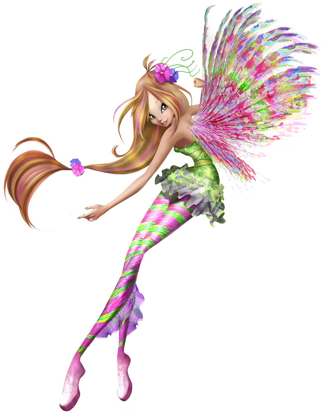 Winx Club - Il mistero degli abissi: la colorata Flora in una foto promozionale