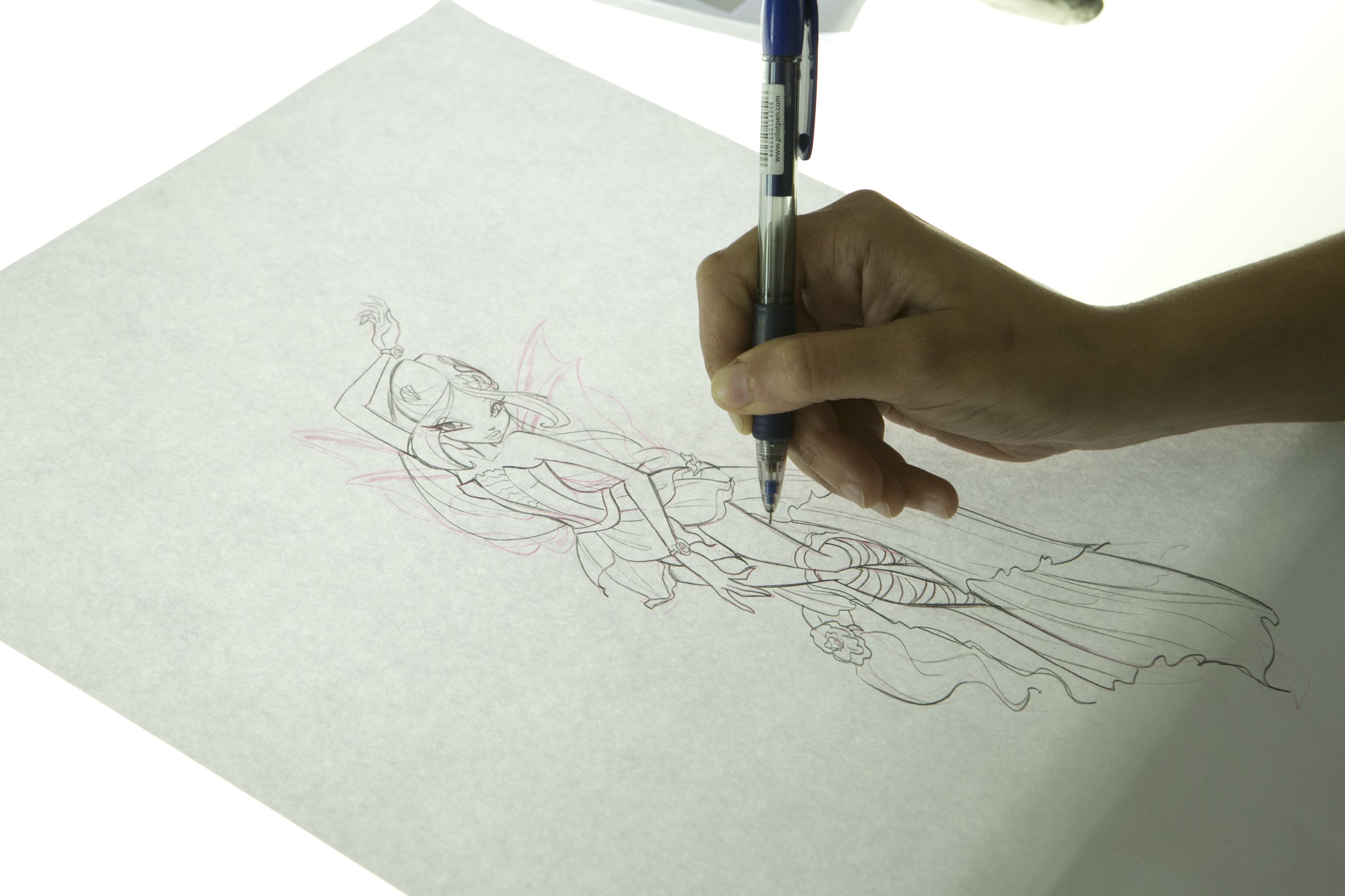 Winx Club - Il mistero degli abissi: un animatore al lavoro negli studi Rainbow