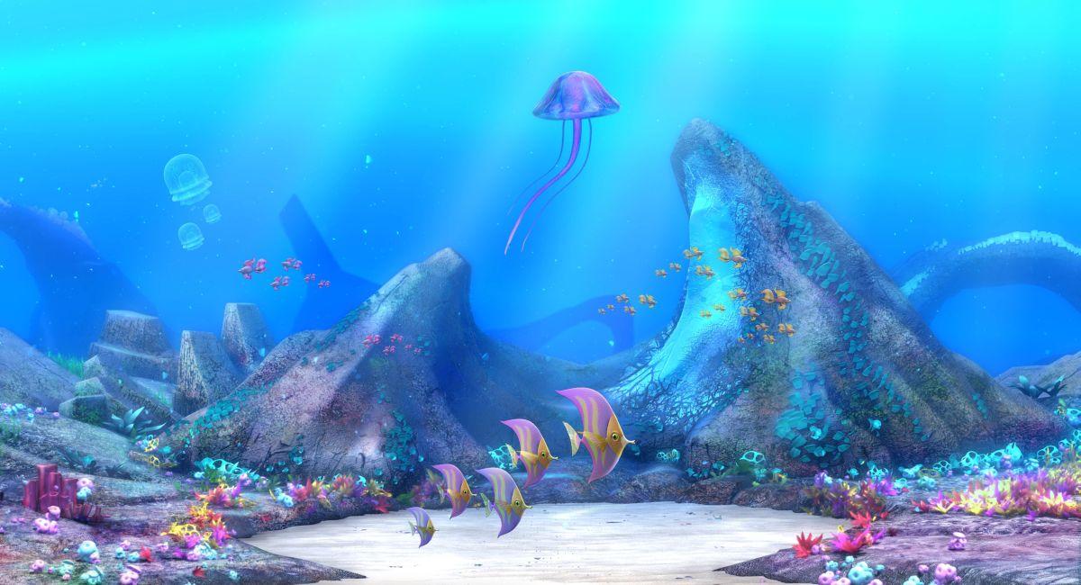 Winx Club - Il mistero degli abissi: una scena subacquea del film animato