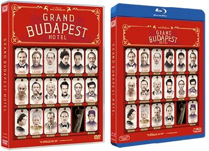 Le cover homevideo di Grand Budapest Hotel