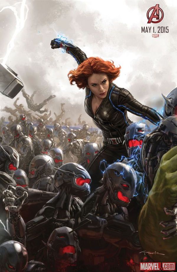 Avengers: Age of Ultron - Il San Diego Comic-Con concept art poster di Black Widow