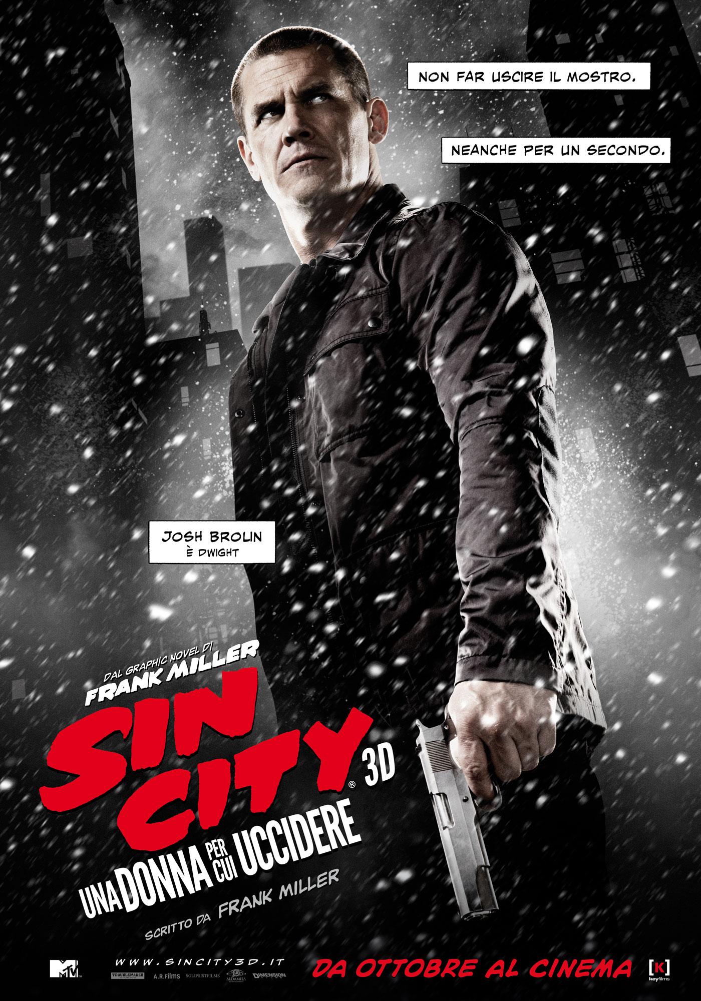 Sin City - Una donna per cui uccidere: il character poster italiano di Josh Brolin