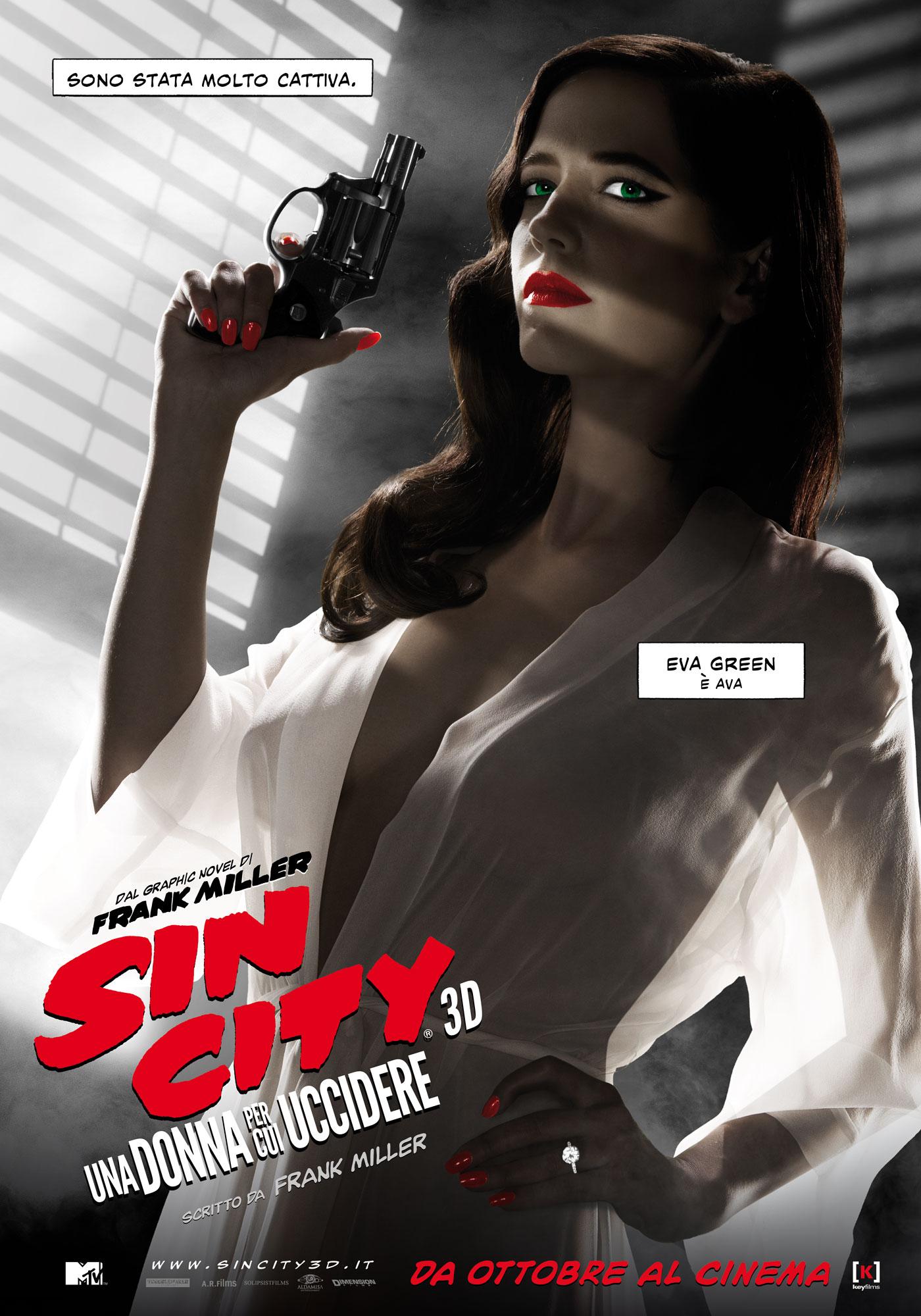 Sin City - Una donna per cui uccidere: il character poster italiano di Eva Green