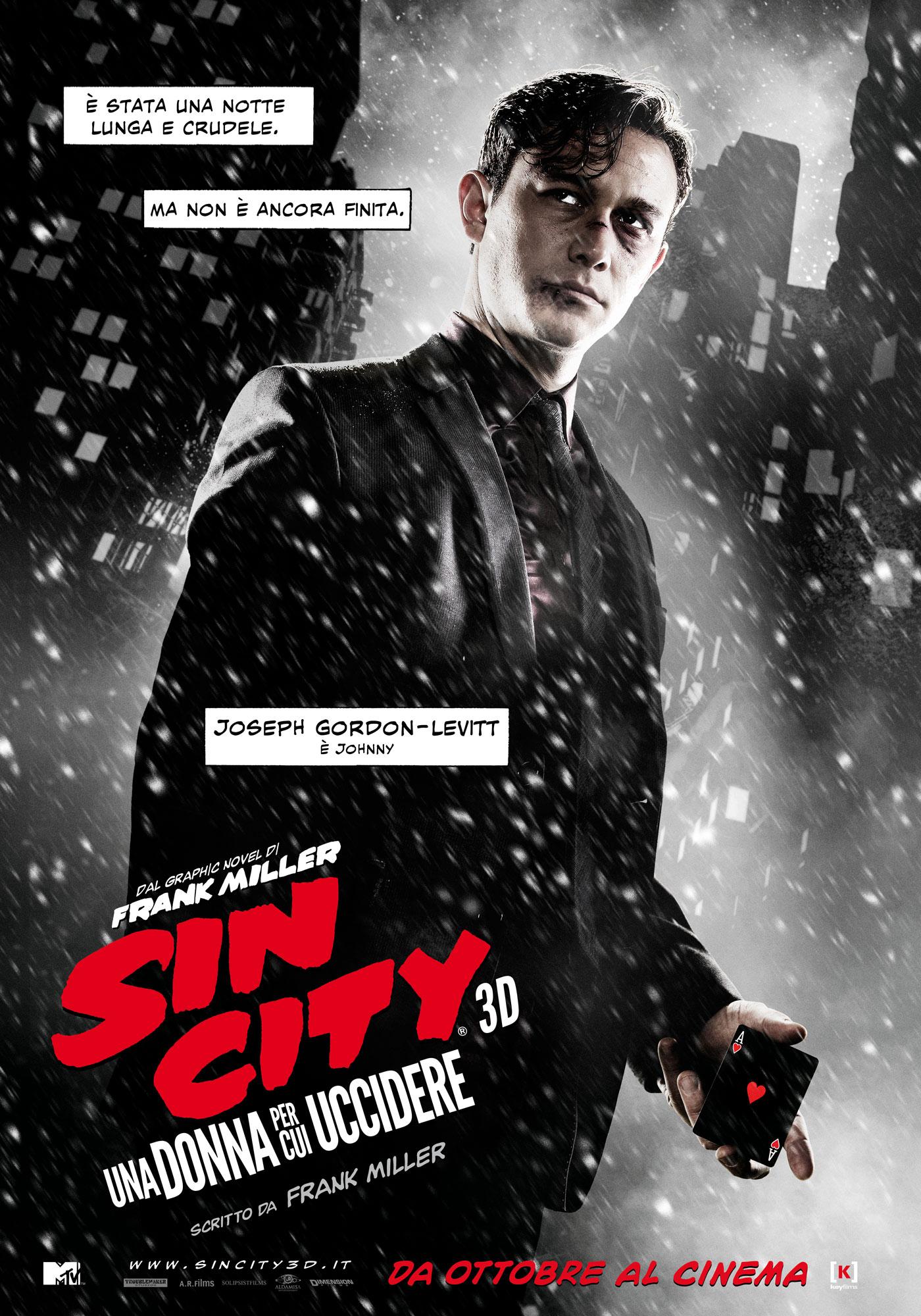 Sin City - Una donna per cui uccidere: il character poster italiano di Joseph Gordon-Levitt
