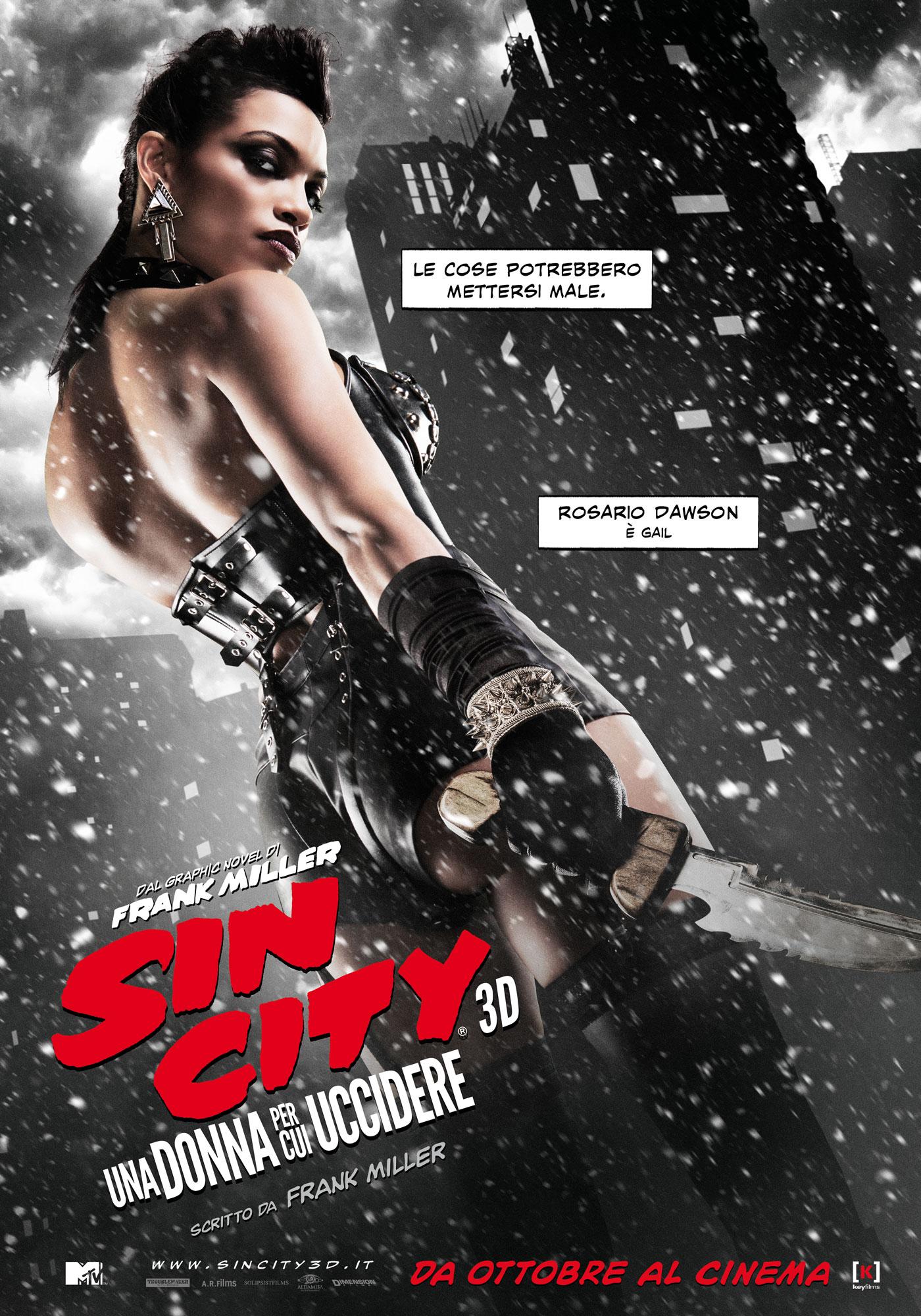 Sin City - Una donna per cui uccidere: il character poster italiano di Rosario Dawson