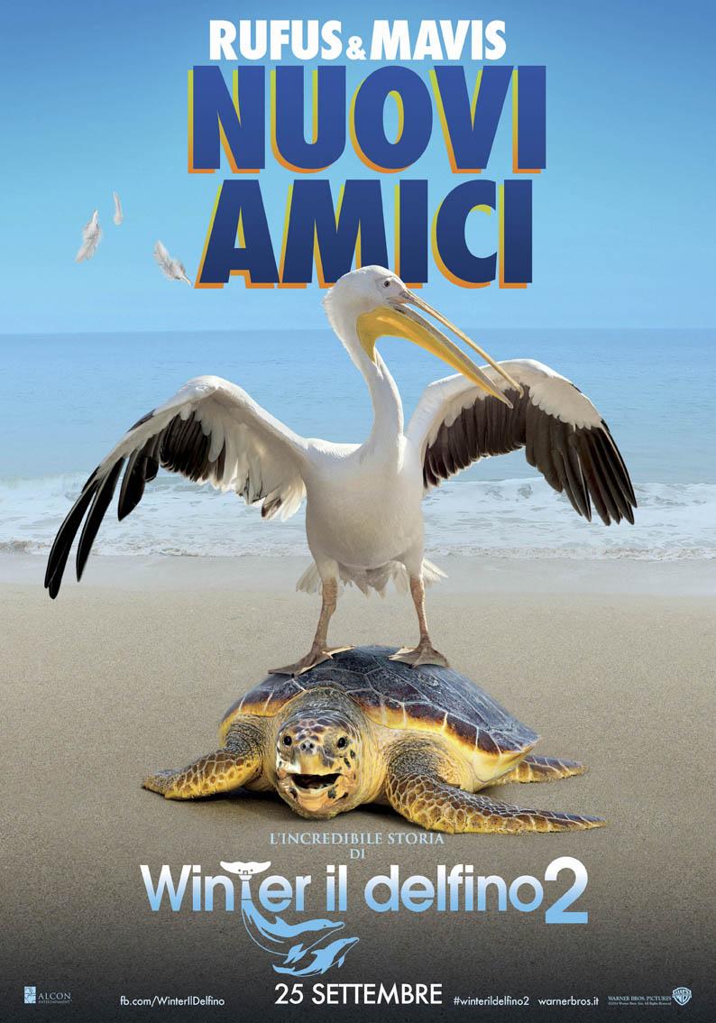 L'incredibile storia di Winter il delfino 2: il character poster di Mavis e Rufus