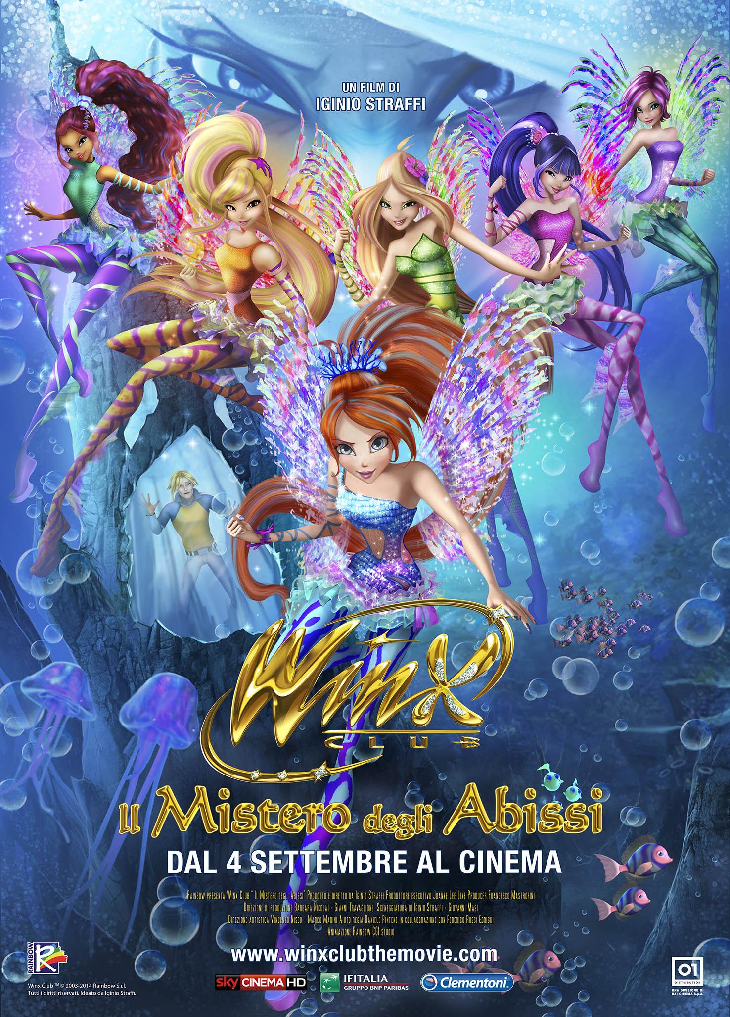 Locandina italiana di Winx Club - Il mistero degli abissi