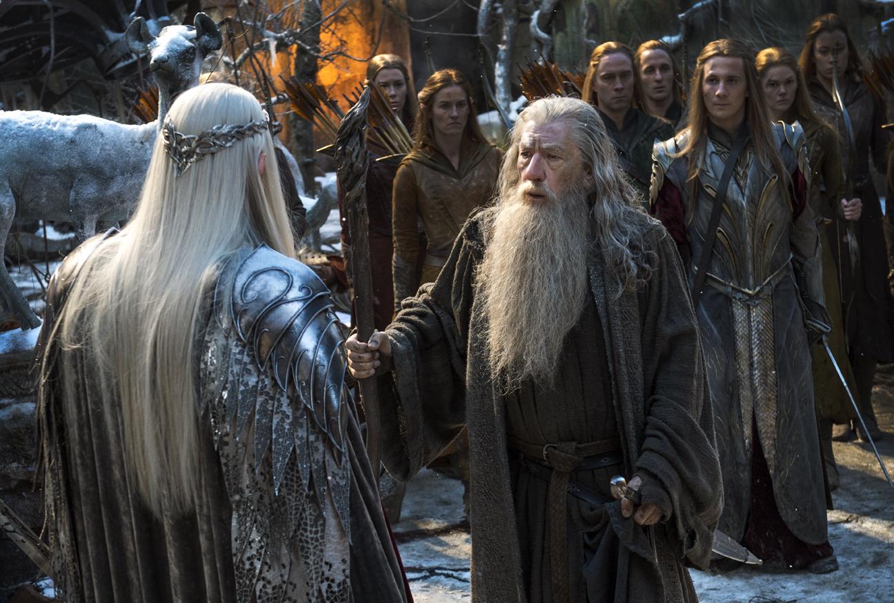 Lo Hobbit: La Battaglia delle Cinque Armate - Ian McKellen nei panni di Gandalf in una scena del film