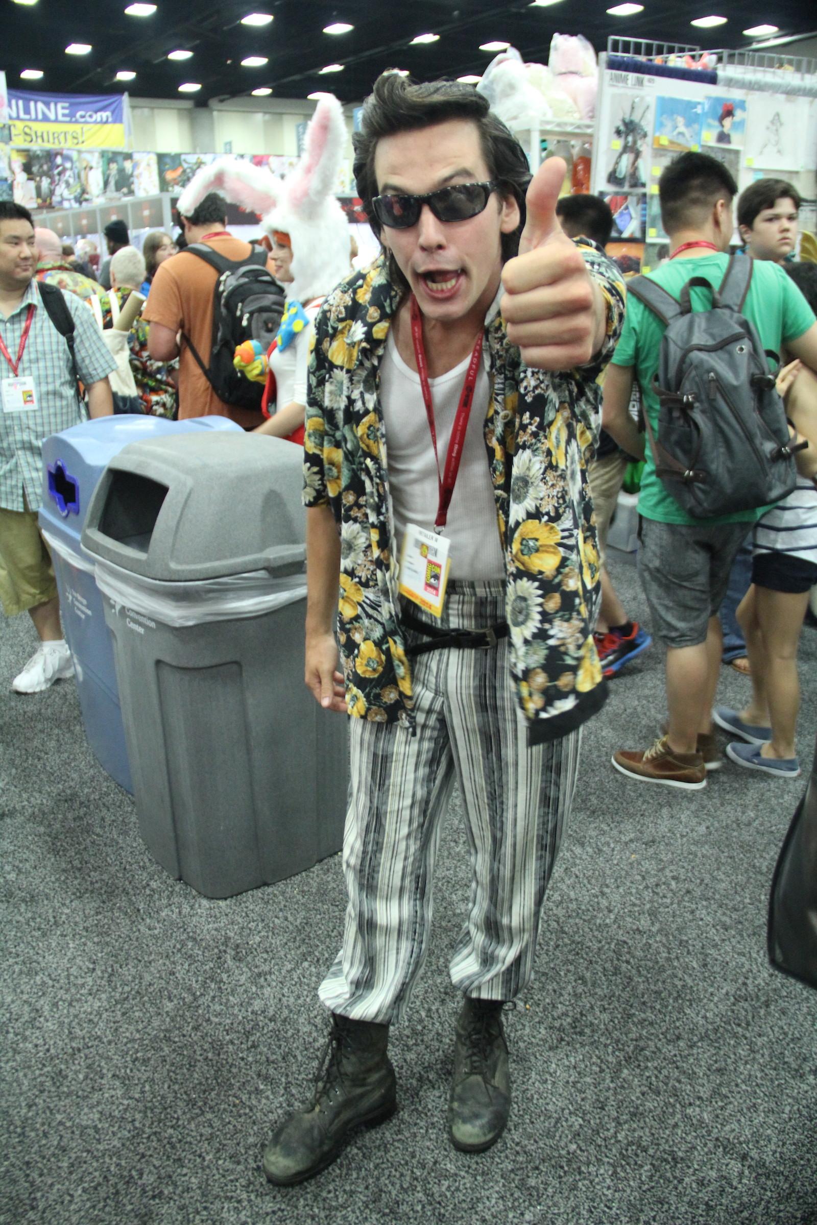 Comic-Con 2014: un cosplayer impersona Ace Ventura