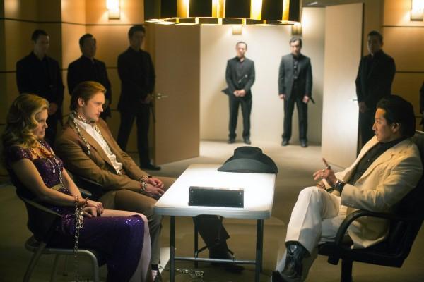 True Blood: Kristin Bauer e Alexander Skarsgård nell'episodio Karma