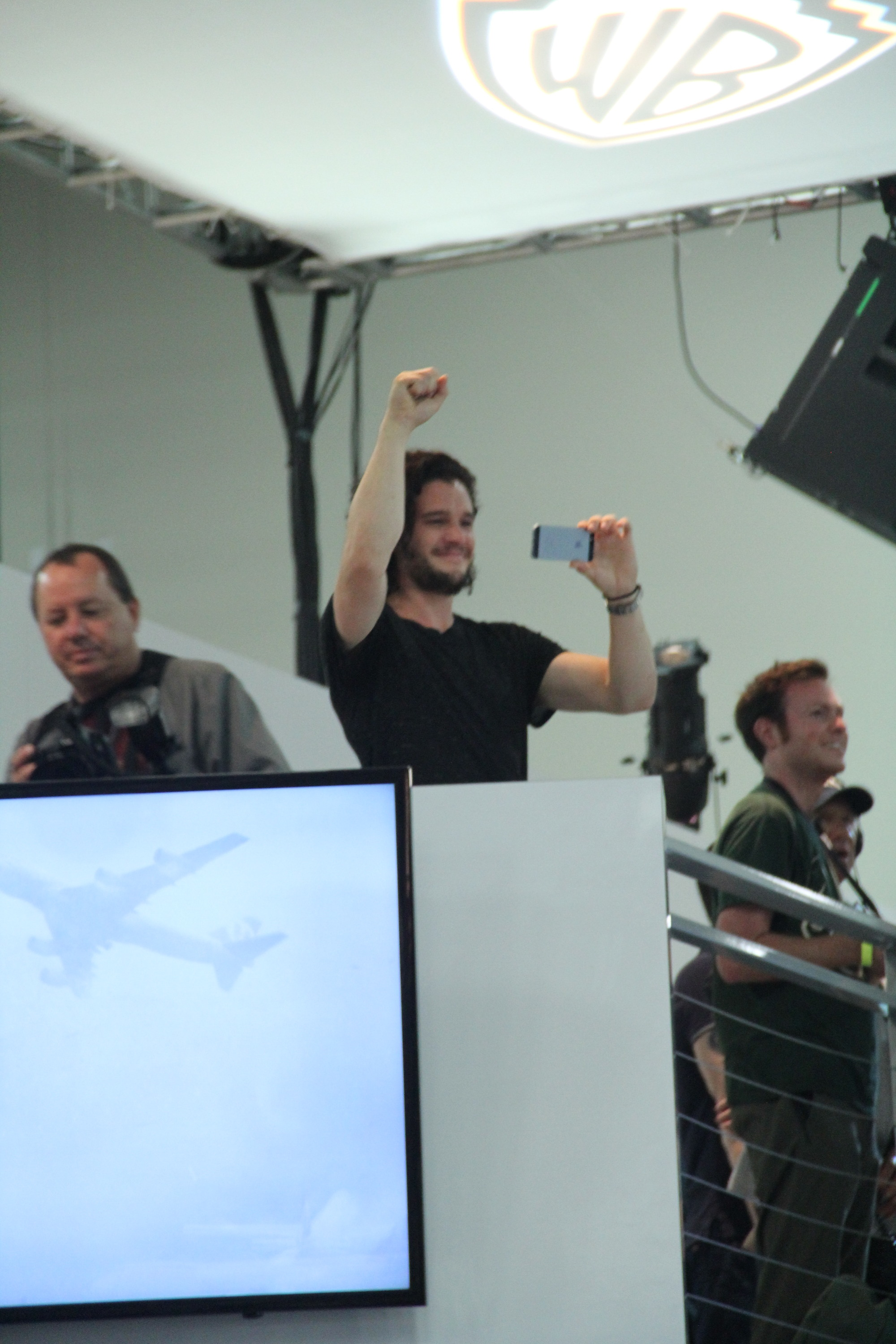 Comic-Con 2014:Kit Harington in un momento del panel de Il trono di spade