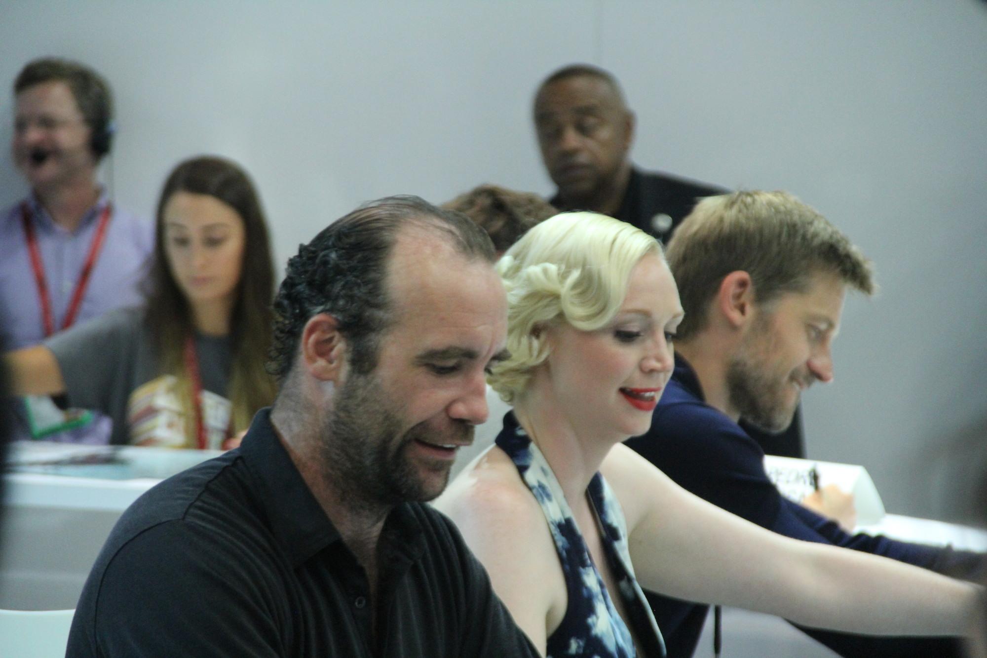 Comic-Con 2014: Rory MnCann e Gwendoline Christie nel panel de Il trono di spade