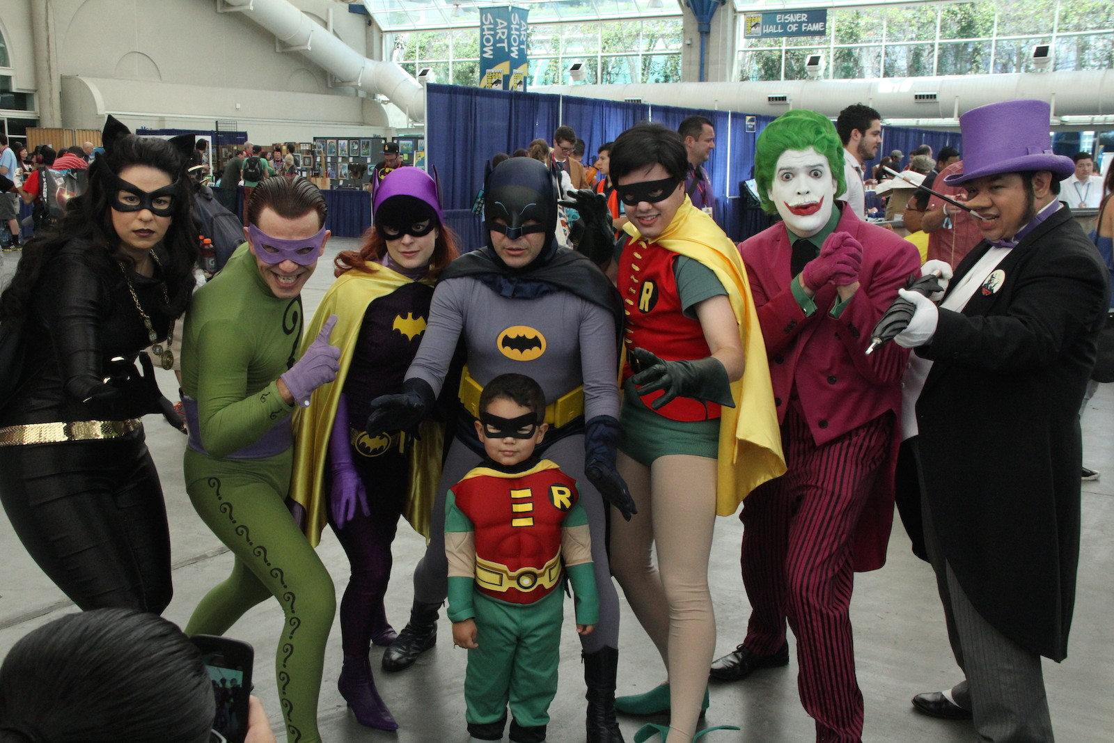 Comic-Con 2014: cosplayer impersonano i personaggi della serie Batman
