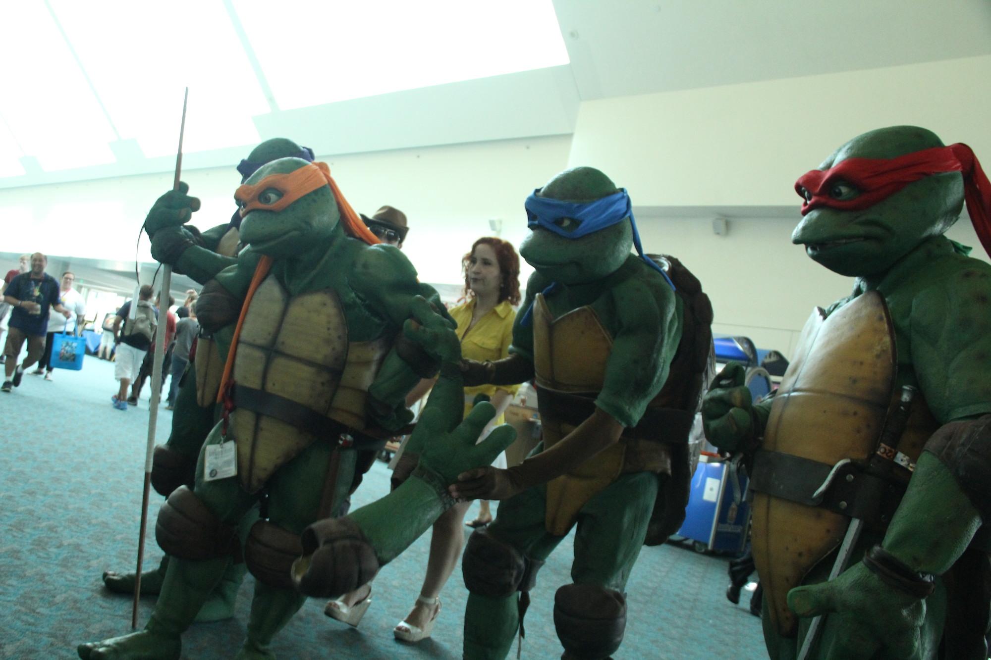 Comic-Con 2014: un gruppo di Cosplay per le Tartarughe Ninja