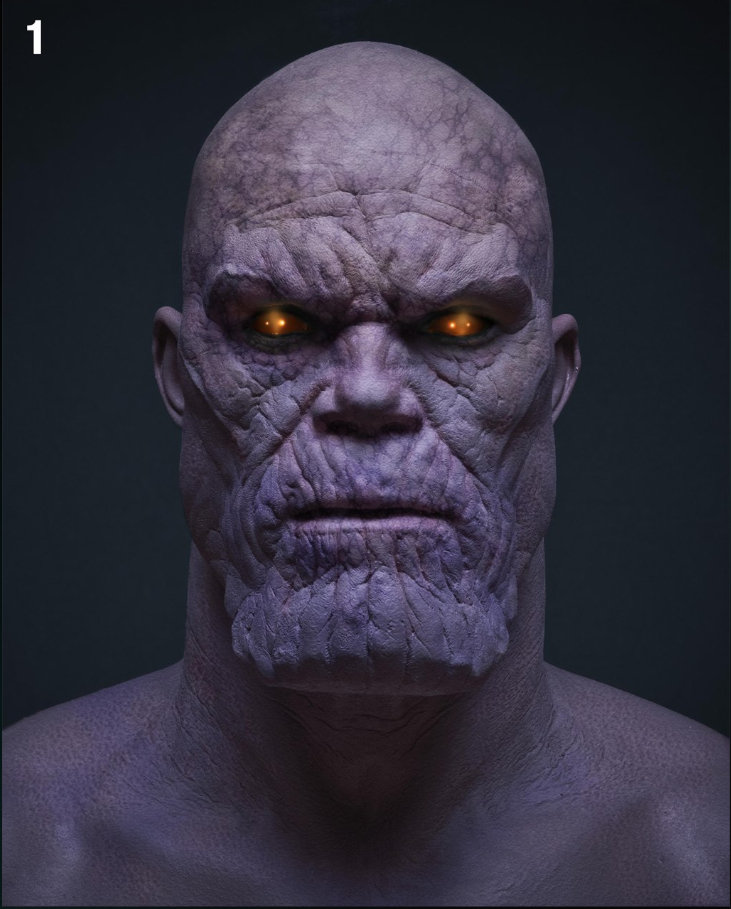 The Avengers, un concept art per Thanos