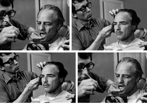Dick Smith con Marlon Brando sul set de Il padrino