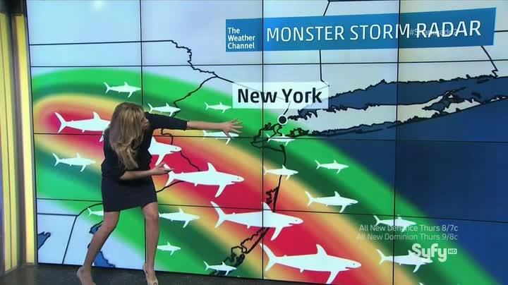 Sharknado 2: prevista pioggia di squali
