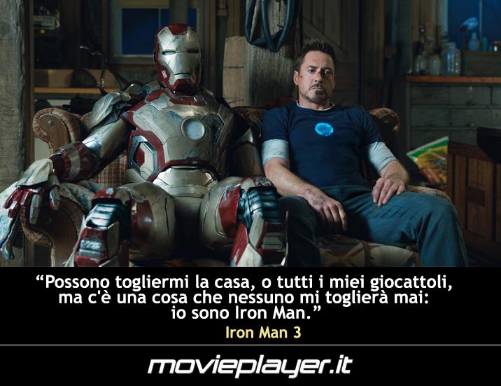 Robert Downey Jr. in Iron Man 3 - una frase del film