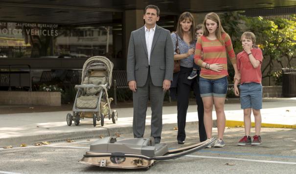 Alexander and the Terrible, Horrible, No Good, Very Bad Day: Steve Carell, Jennifer Garner e Bella Heatchcote contemplano un incidente di percorso