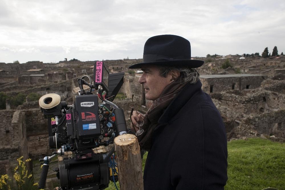 Il giovane favoloso: il regista Mario Martone sul set del film