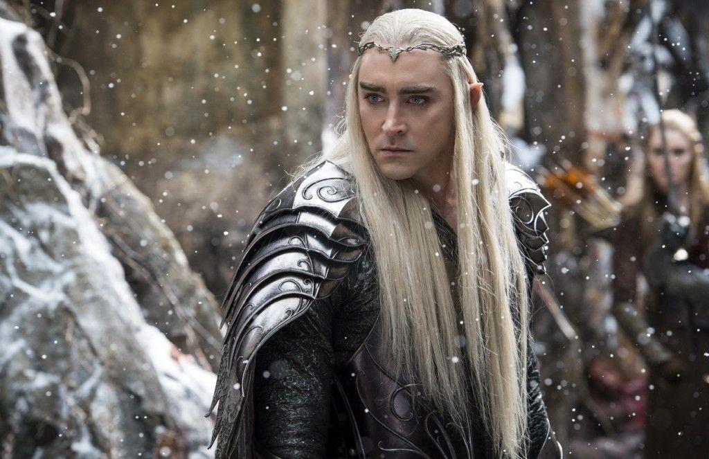 Lee Pace nei panni di Thranduil in una scena de Lo Hobbit - La battaglia delle cinque armate