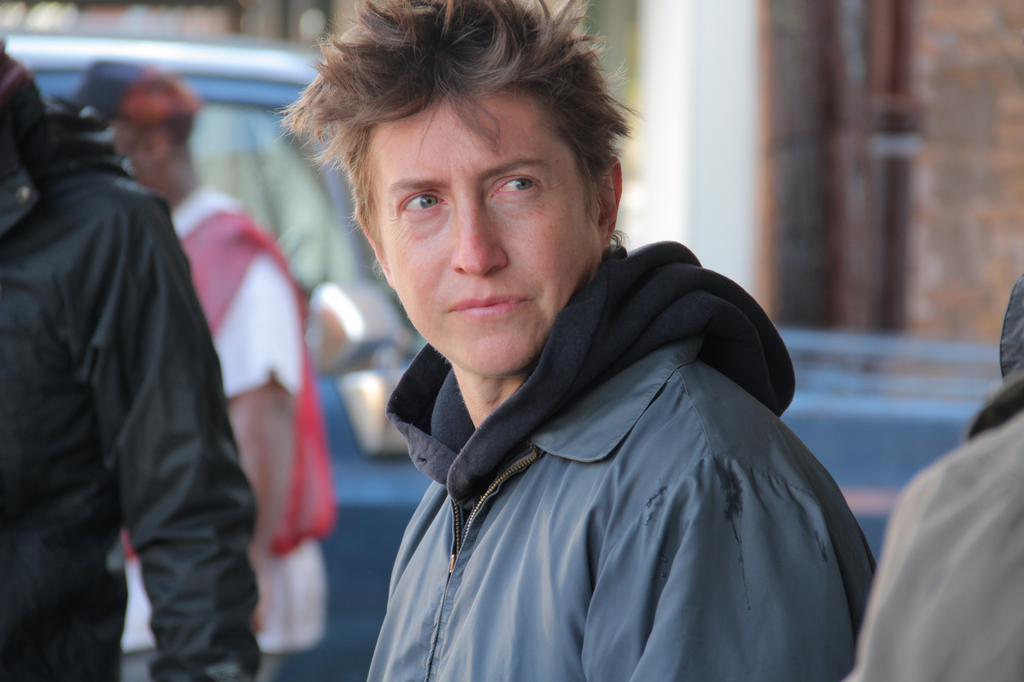Il regista David Gordon Green sul set di Manglehorn