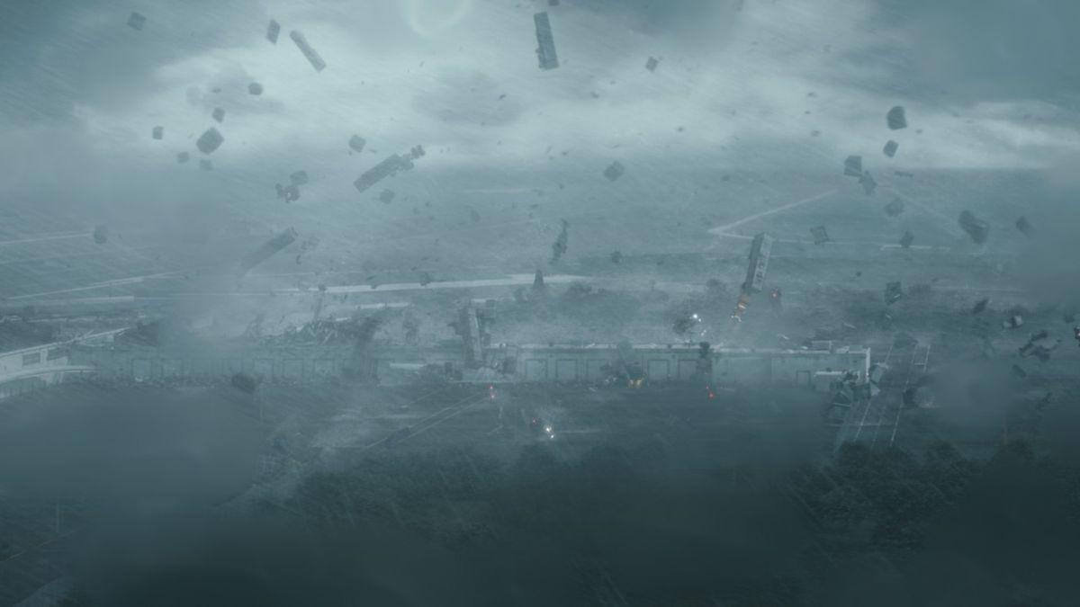 Into the Storm: la potenza del tornado in una scena del film