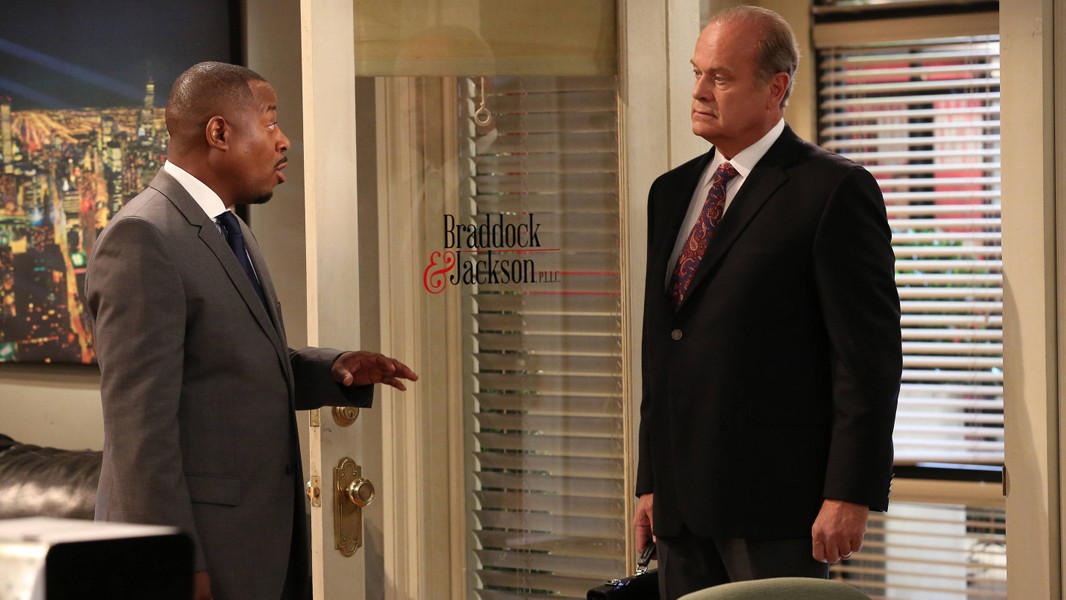 Partners: Martin Lawrence e Kelsey Grammer nell'episodio Let's Have a Simple Gwedding