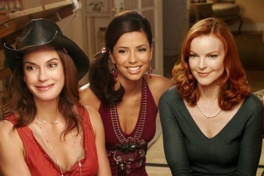 Desperate Housewives: Marcia Cross, Eva Longoria, Teri Hatcher in una scena
