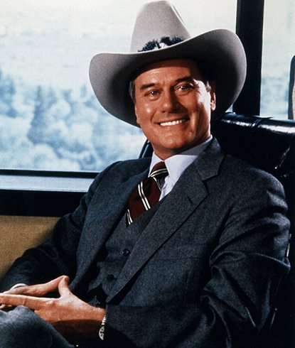 Dallas: Larry Hagman in una scena della storica serie