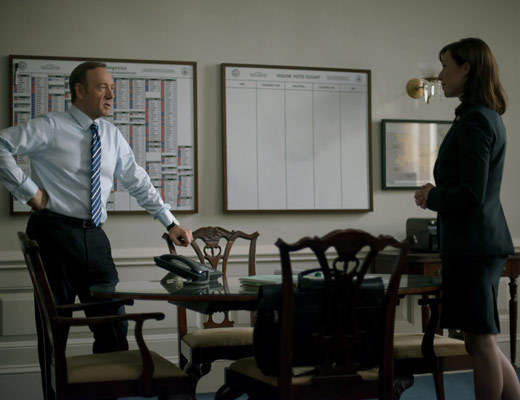 House of Cards: Kevin Spacey e Molly Parker nell'episodio Chapter 14