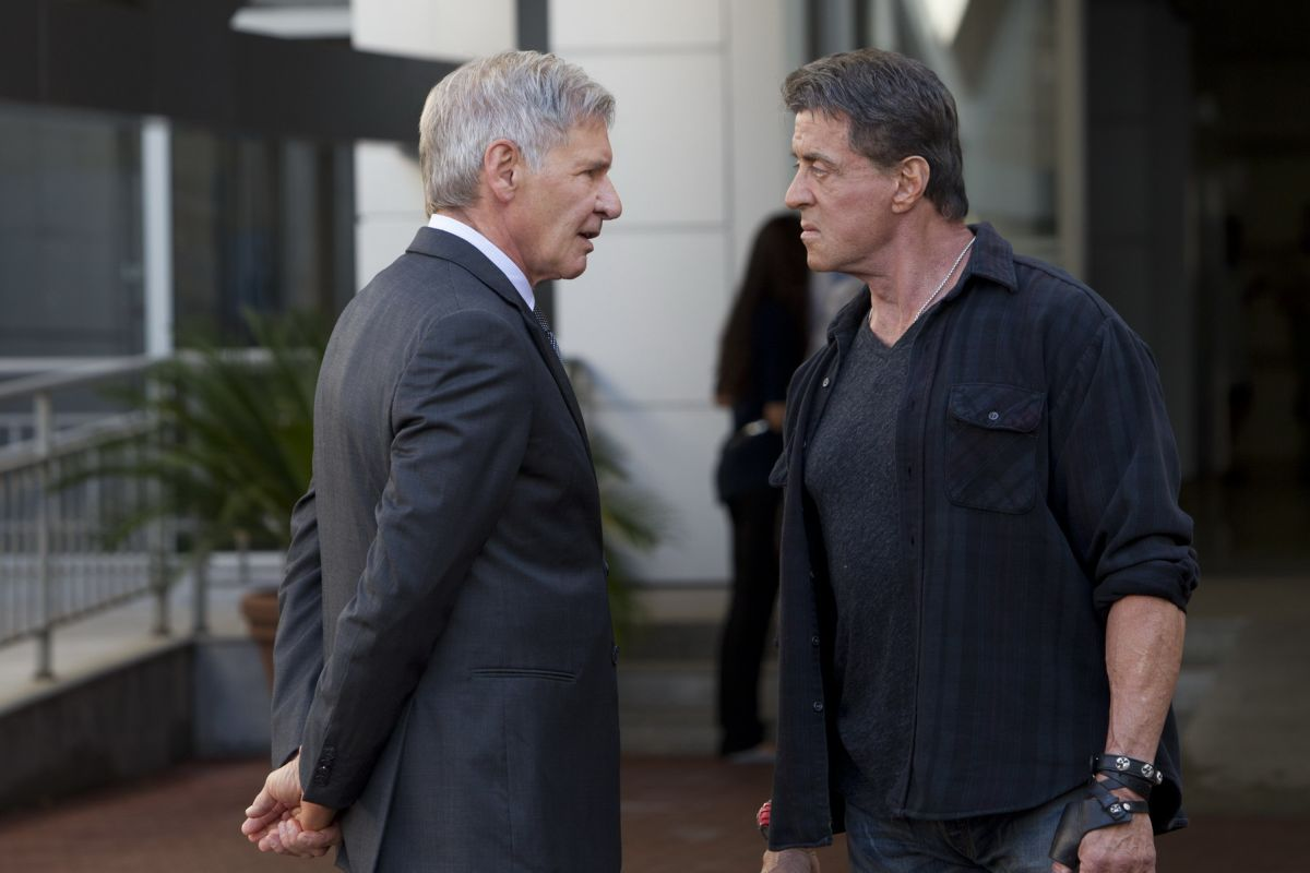 Sylvester Stallone e Harrison Ford ne I mercenari 3 - The Expendables