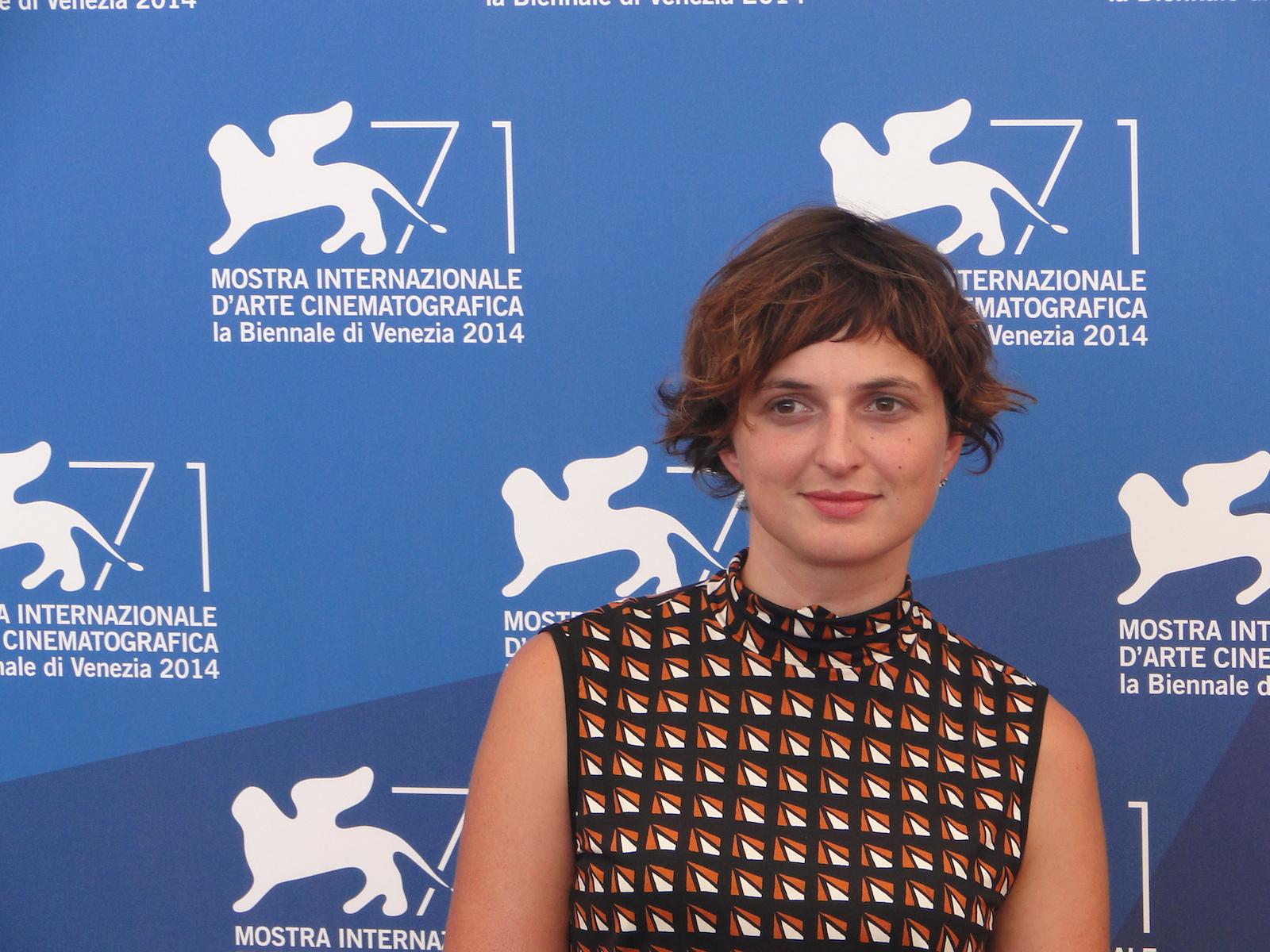 Venezia 2014: uno scatto di Alice Rohrwacher al photocall delle giurie