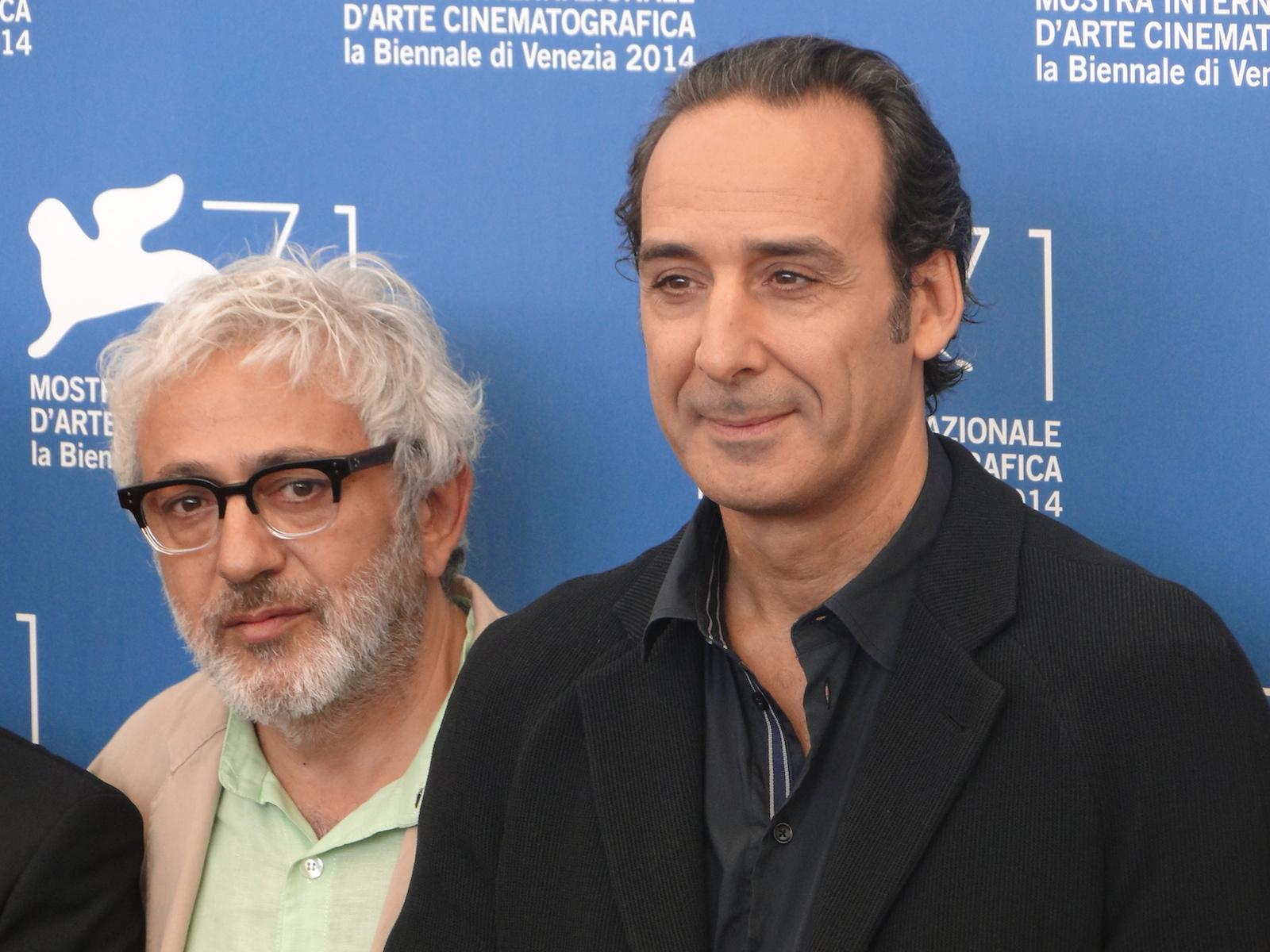 Venezia 2014: Alexandre Desplat ed Elia Suleiman al photocall