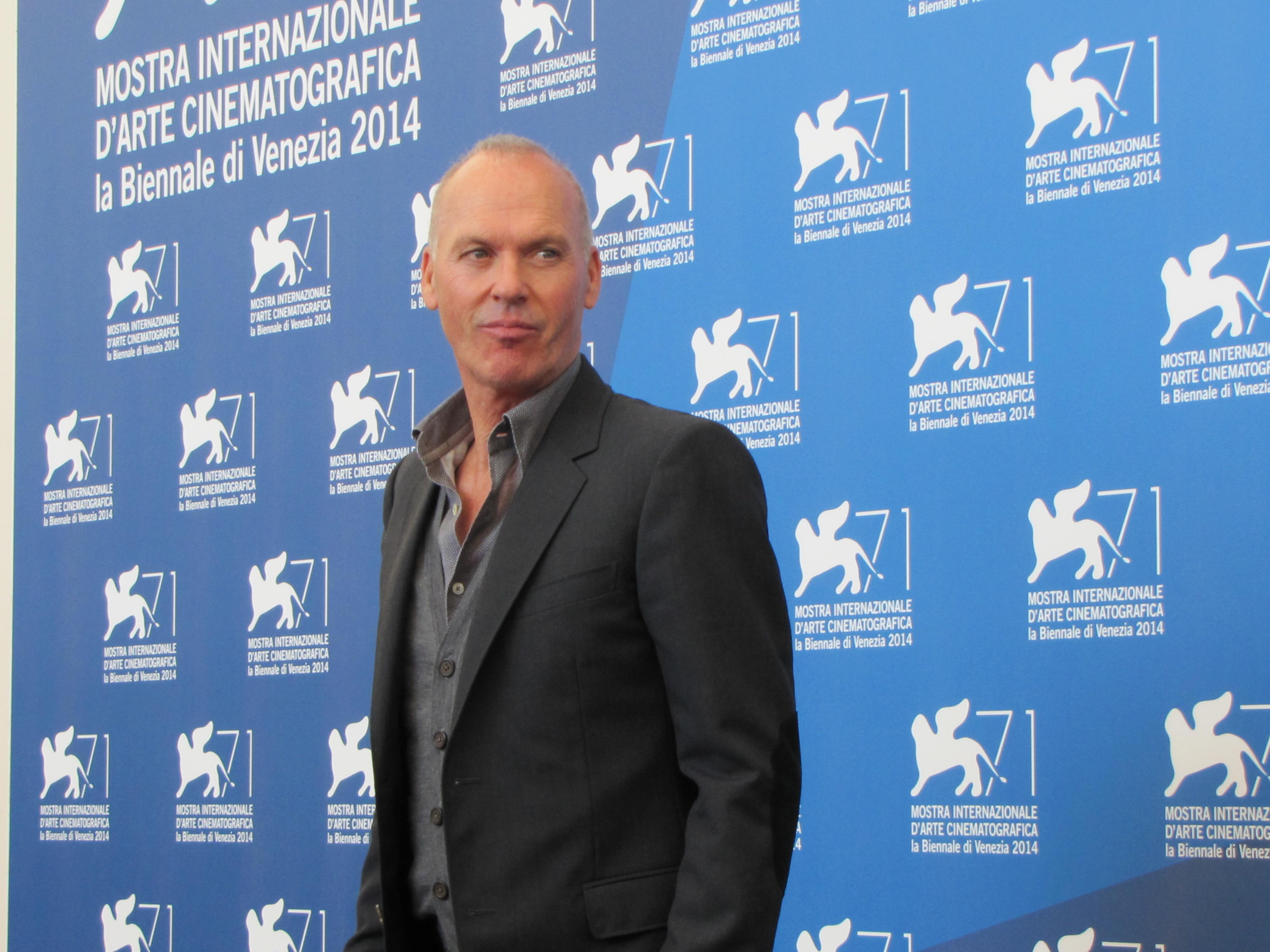 Michael Keaton alla Mostra di Venezia 2014 con Birdman