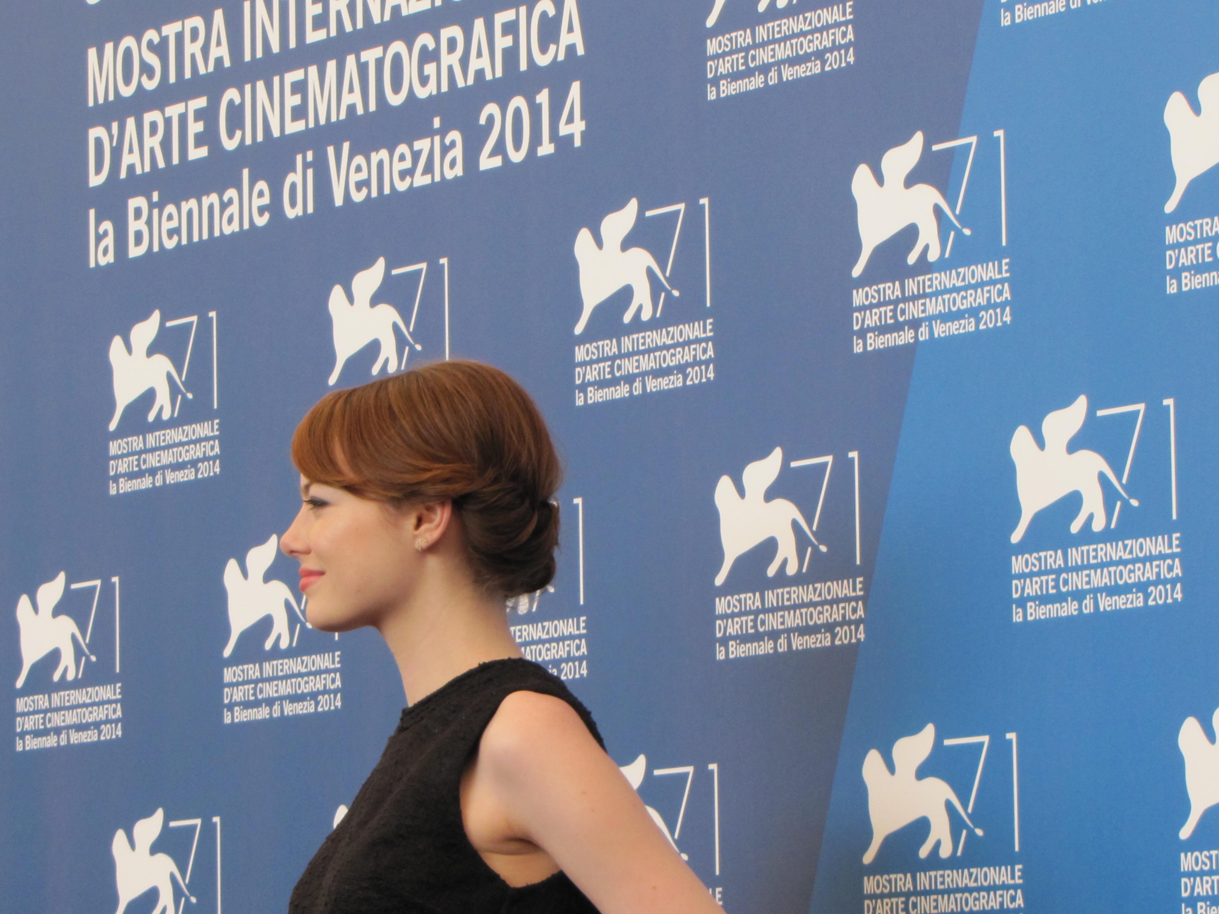 Emma Stone a Venezia 2014 per Birdman di Inarritu