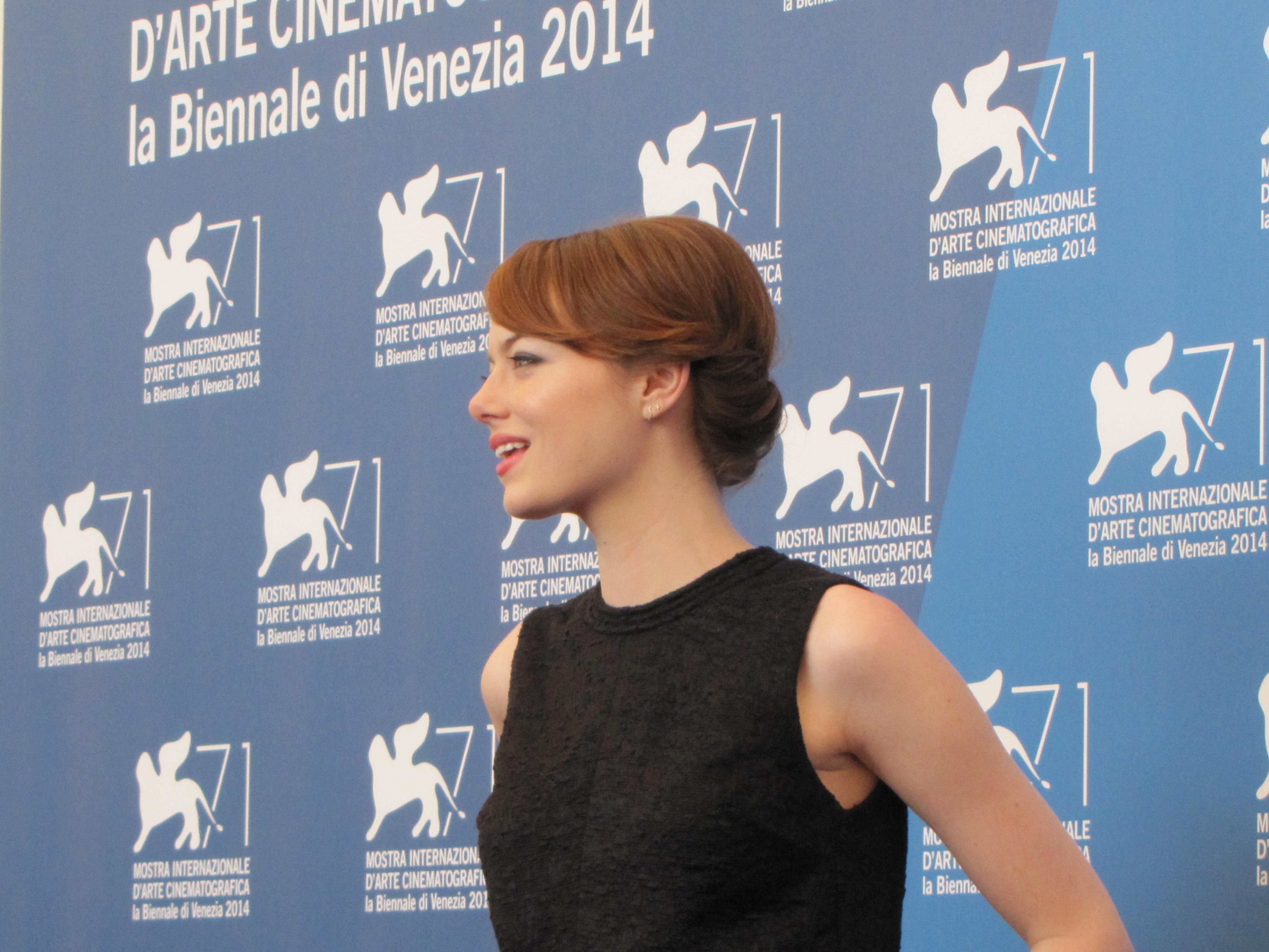 una splendida Emma Stone a Venezia 2014 per Birdman