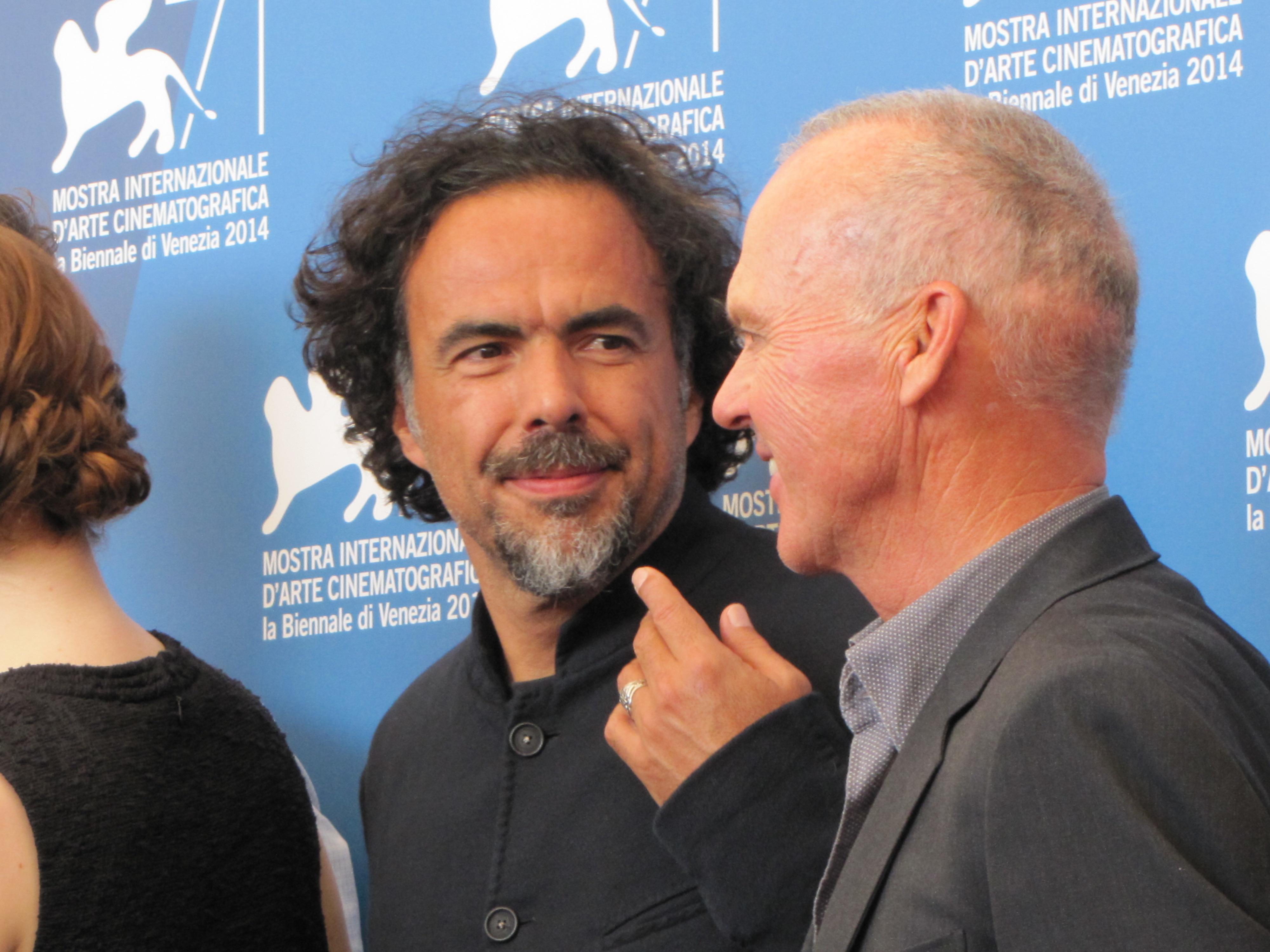 Inarritu e Michael Keaton a Venezia 2014 con Birdmman
