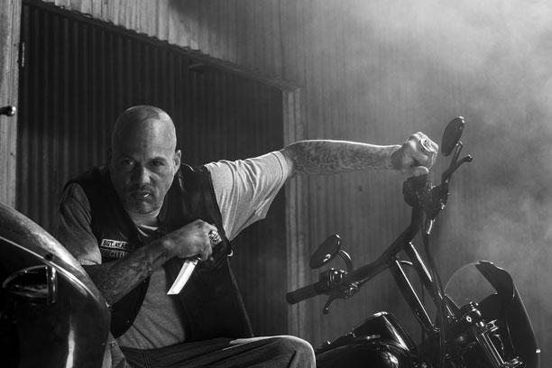 Sons of Anarchy: David Labrava in una foto promozionale per l'ultima stagione della serie