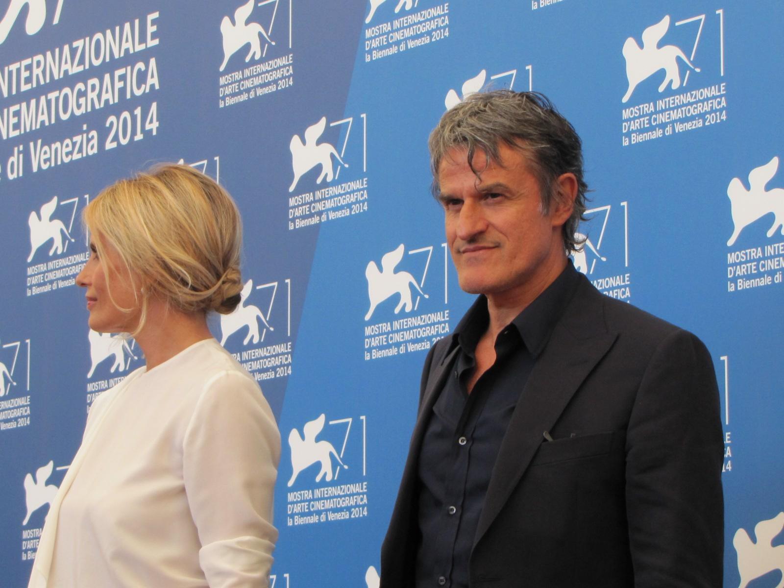 Renato De Maria con Isabella Ferrari a Venezia 2014 per La vita oscena