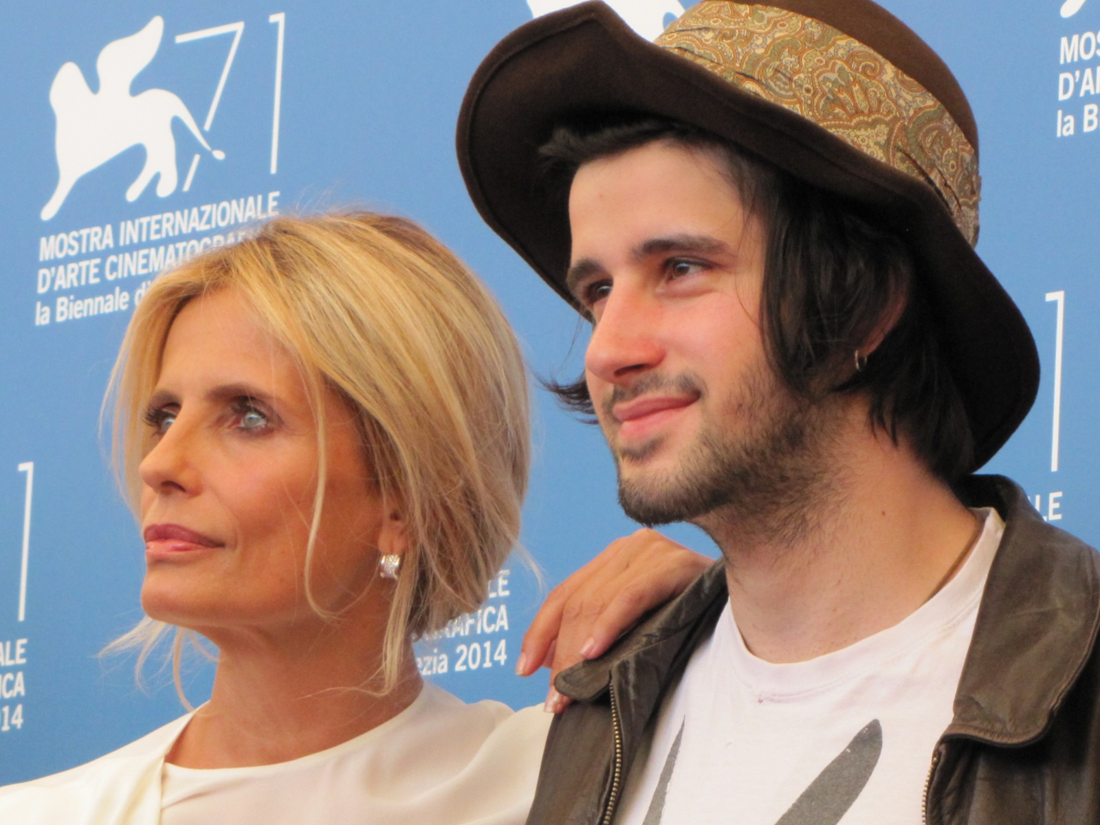 La vita oscena a Venezia 2014, Clement Metayer con lsabella Ferrari