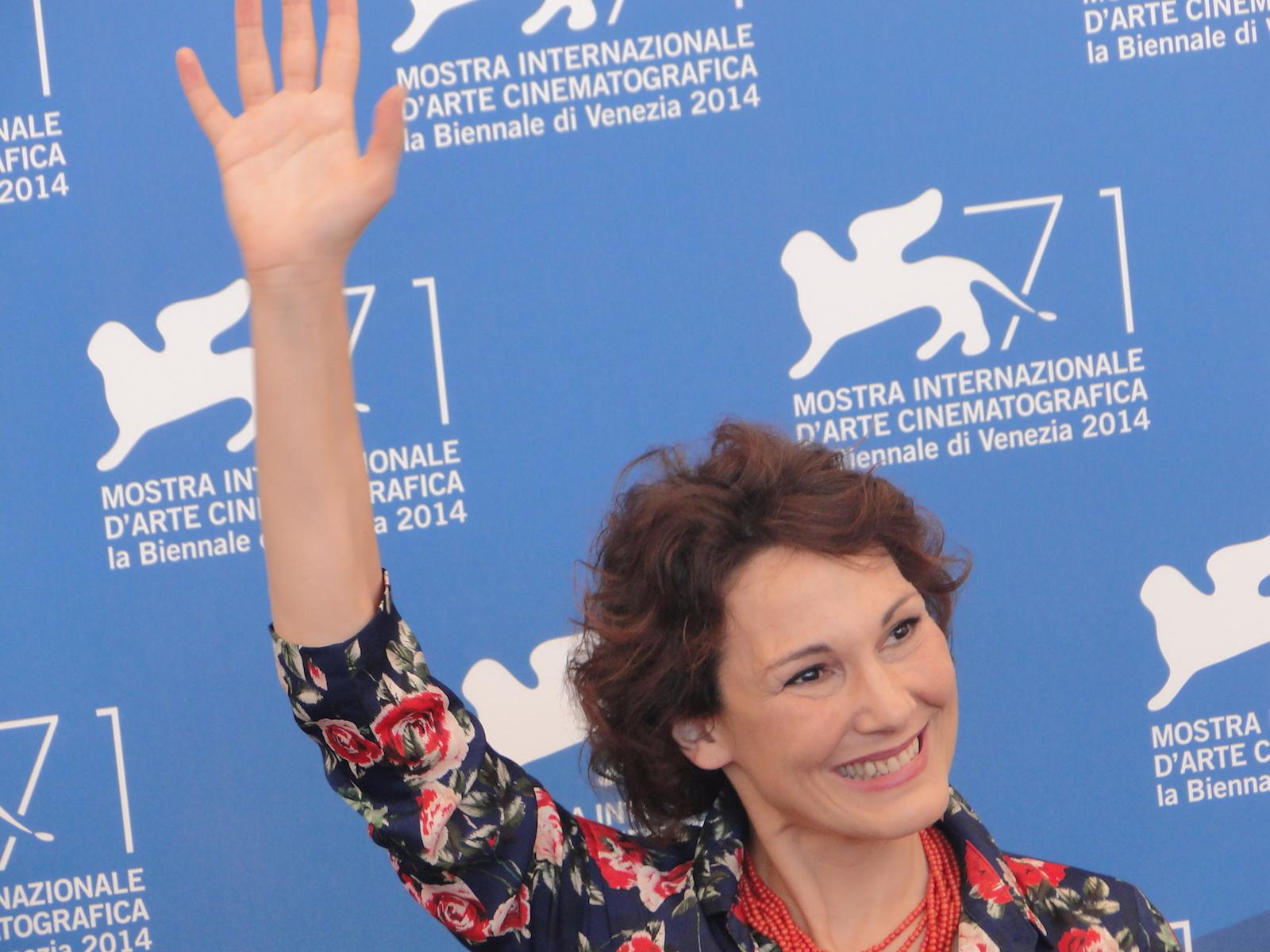 Venezia 2014: Anna Ferruzzo posa per i fotografi al photocall di Anime nere
